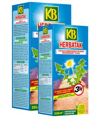 Onkruid bestrijden tussen planten met Herbatak