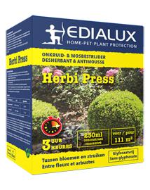 Onkruid bestrijden tussen planten met Herbi Press