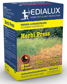 Edialux Herbi Press voor bestrijding van hardnekkig onkruid