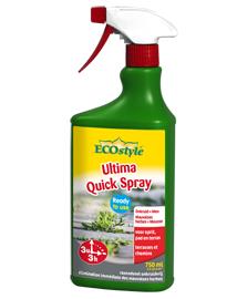 Ecostyle Ultima Quick Spray voor bestrijding van hardnekkig onkruid